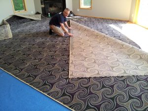 Purple Woven Carpeting