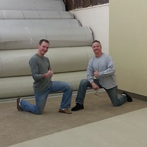 Hopkins Carpet One Installers Mark & Eric