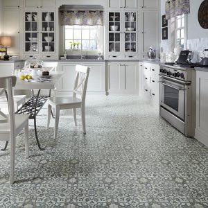 Luxury Vinyl Patterned Flooring in Kitchen